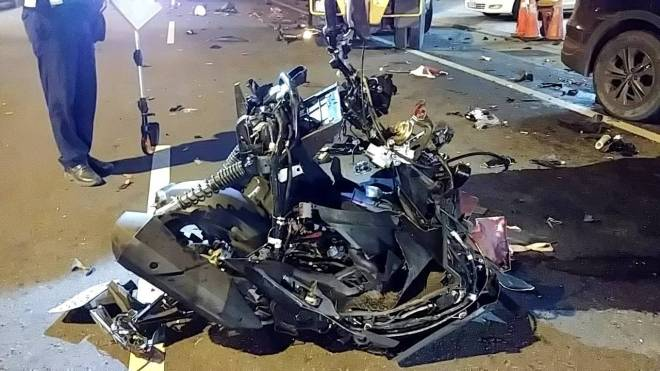 wreckage from crash
