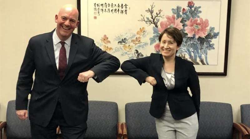 R. Clarke Cooper Assistant Secretary of State for the Political and Military Bureau of the US State Department and Taiwan representative to the US Hsiao Bi-Khim