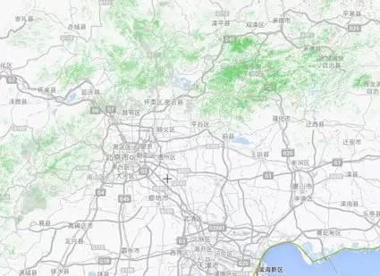 北京與周圍土地森林分佈地圖
