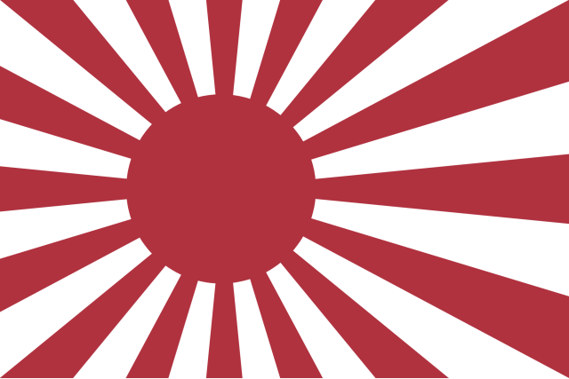Rising Sun Flag Naval ensign of the Empire of Japan War