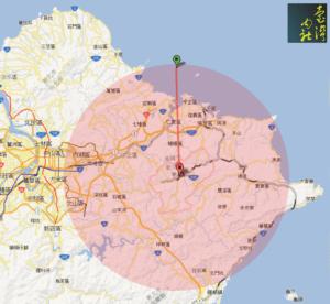 MAP 平溪天燈飛行距離範圍 1