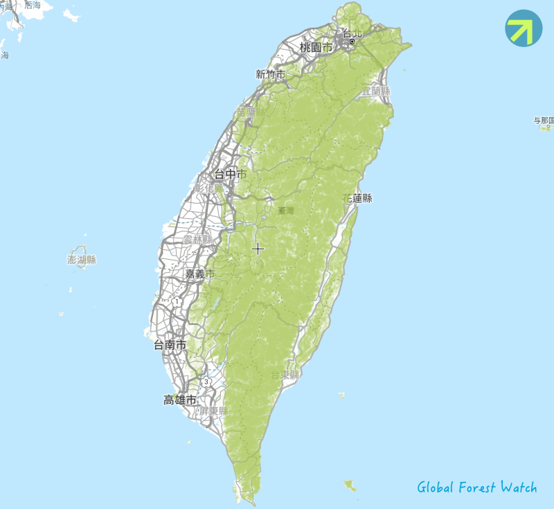 Taiwan-Forest-Watch-Map-臺灣森林分布圖