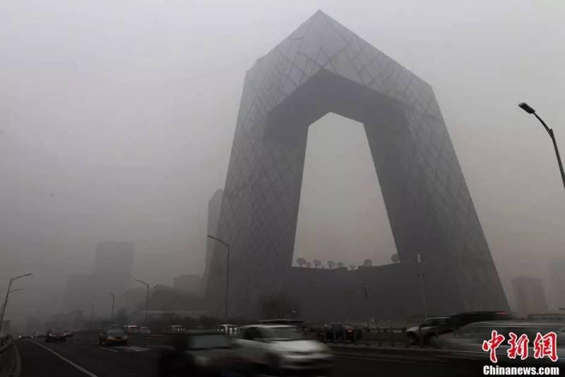 北京霧霾的惡劣景致