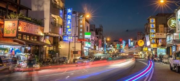 Taipei road night view