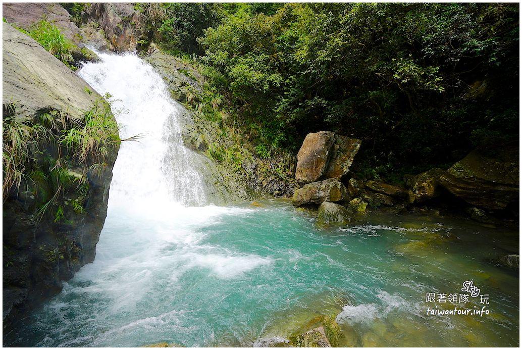 宜蘭景點推薦-礁溪秘境高25公尺雙層瀑布【猴洞瀑布】