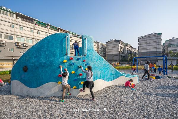 新北親子景點【鳳祥公園】鶯歌鯨魚造型溜滑梯