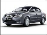 Toyota etios for tour in agra