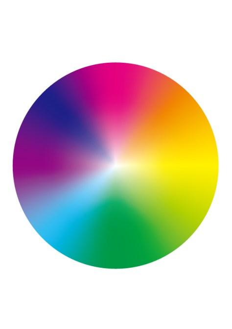 虹グラデーションの環