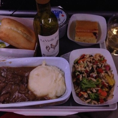 Air France in flight meal