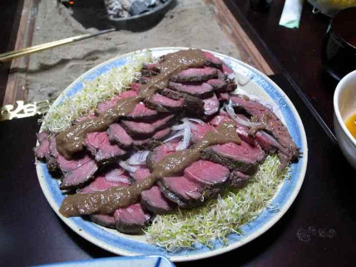ジビエ料理の鹿肉肩ロースが想像以上においしくてびっくり! (6)