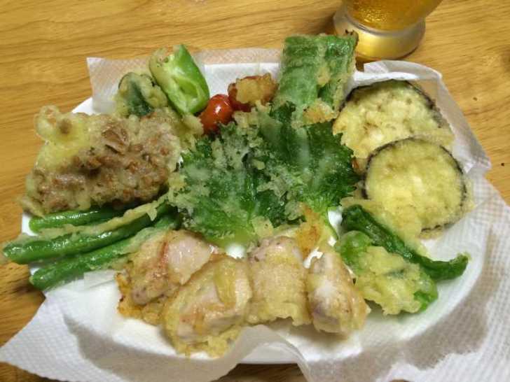 採れたて野菜のてんぷらと自給自足の裏ワザについて (2)