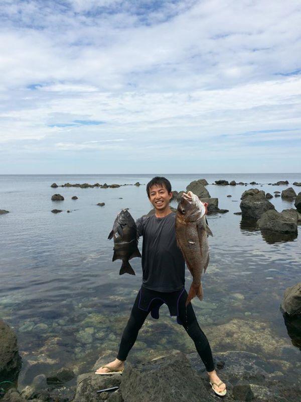福井で魚突き!80cm弱の真鯛と40cm強の石鯛とキジハタとったどー!! (8)