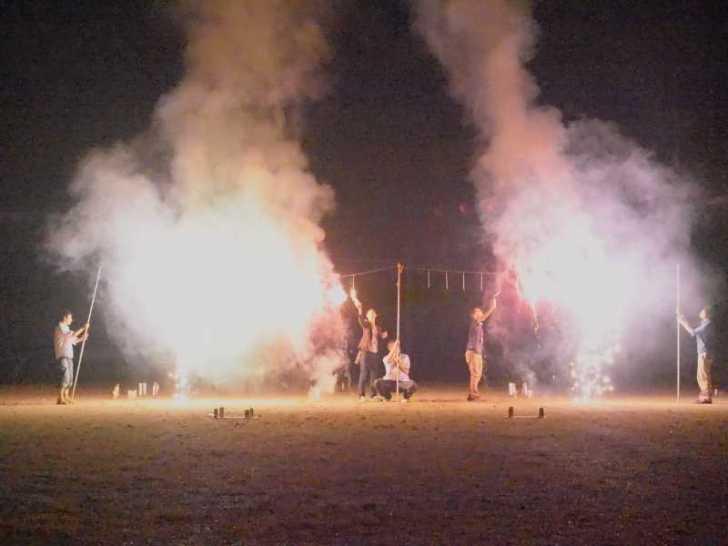 東京・浅草橋「長谷川商店」で購入した花火でミニ花火大会をやってみた! (10)