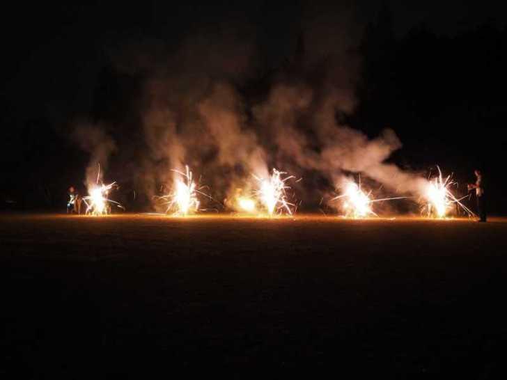 東京・浅草橋「長谷川商店」で購入した花火でミニ花火大会をやってみた! (9)