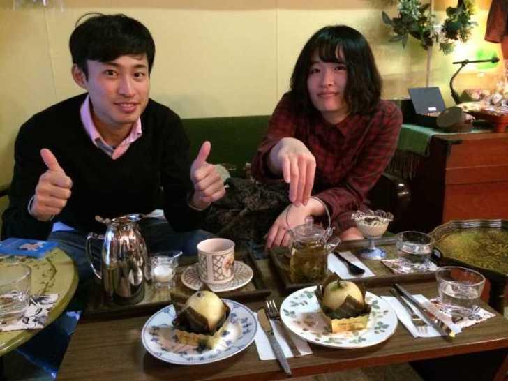 maruya(まるや)コーヒー、季節のタルト、ほうじ茶プリン、八宝茶 (4)