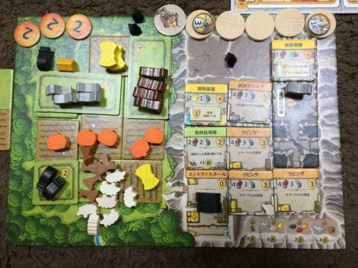 アグリコラより面白いと噂のボードゲーム「カヴェルナ 洞窟の農夫たち」をプレイしてきたよ【レビュー】 (6)