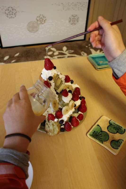 手作り抹茶バームクーヘンを「誕生日ケーキ城」にしてみた!これぞ新城!! (10)