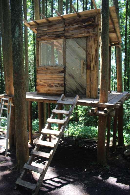 【ツリーハウスの作り方】ガンコ山の講習でセルフビルドしてきたよ! (22)