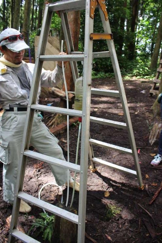 【ツリーハウスの作り方】ガンコ山の講習でセルフビルドしてきたよ! (3)