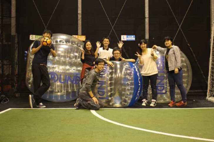 「健康維持にバブルサッカー」若者議会の医療チーム政策が新聞に取り上げられたし、バブルサッカーをやってみた! (10)