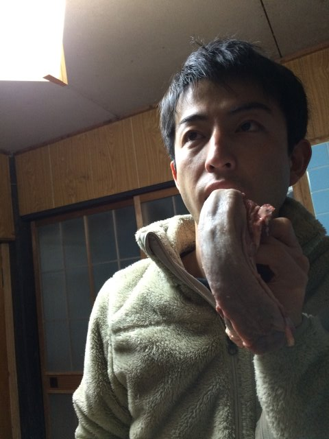 イノシシを飼育している山田英雄さん、そして解体した猪のモツ祭り!【愛知県新城市】 (8)