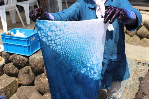 草木染め染色体験ふたたび。藍染めTシャツの作り方を研究してみたよ! (17)
