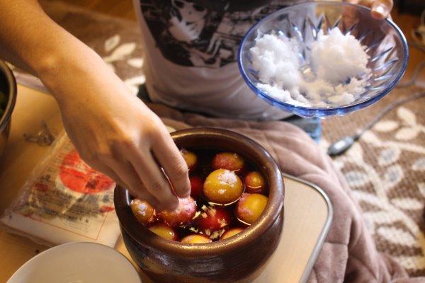 梅干しと梅酒の作り方!熟成梅は梅干しに、青梅は梅酒に、っていうけど、青梅も梅干しにしてみた (13)