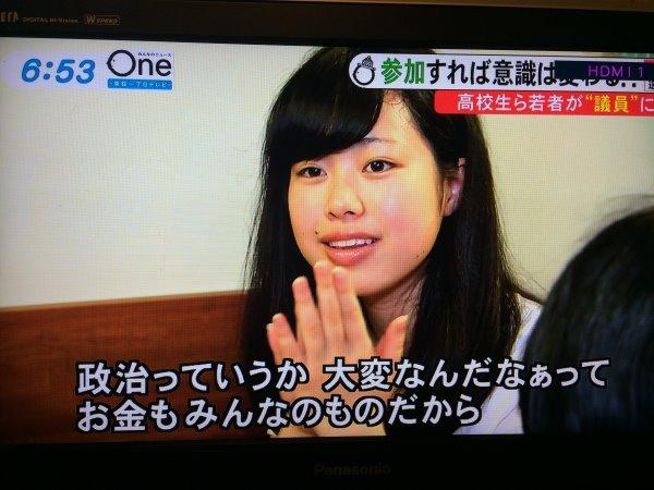 みんなのニュースOneに愛知県新城市若者議会が取り上げられました! (19)