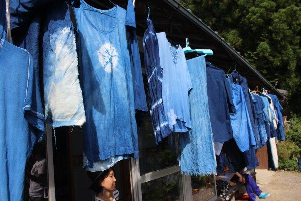 藍染めのワークショップを開催したよ。衣食住の衣のワークショップって珍しいのかも。 (14)
