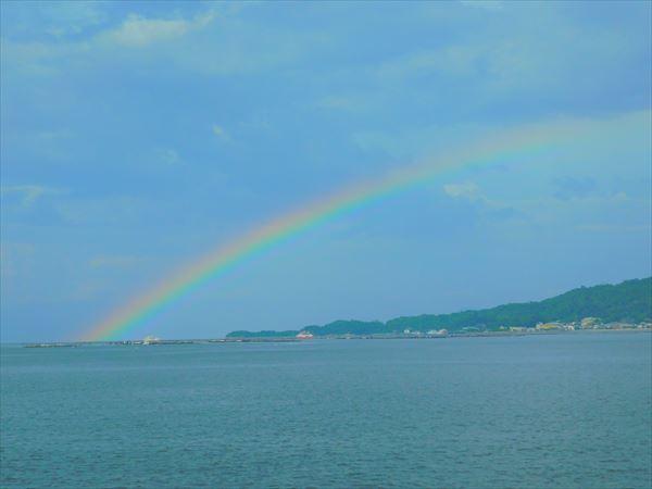 200730宮島付近で虹