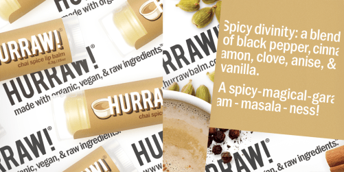 hurraw chai spice lip balm ingredienten