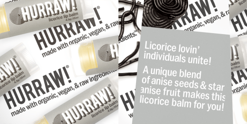 hurraw licorice lip balm ingredienten