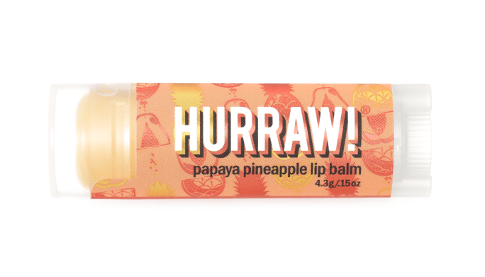 hurraw! lippnbalsem fresh papaya pineapple