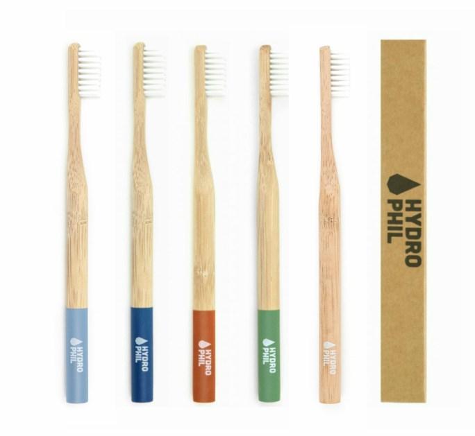 hydrophil bamboe tandenborstel colors