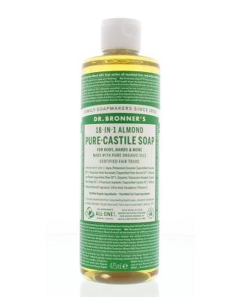 vloeibare zeep Almond Dr Bronner's Pure Castile soap 475ml
