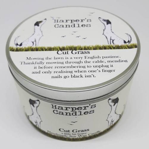 vegan geurkaars Cut Grass Harper's Candles