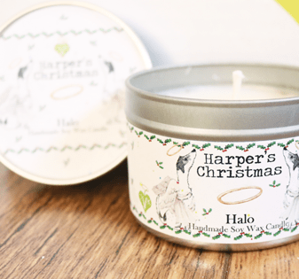 vegan geurkaars Halo van Harper's Candles
