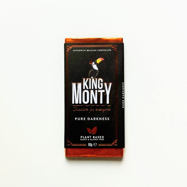 pure chocolade King Monty Pure Darkness 90gr