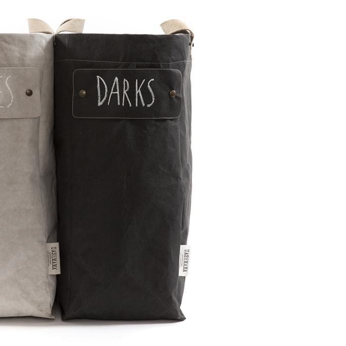 linnenmand zwart of lichtgrijs uashmama laundry bag