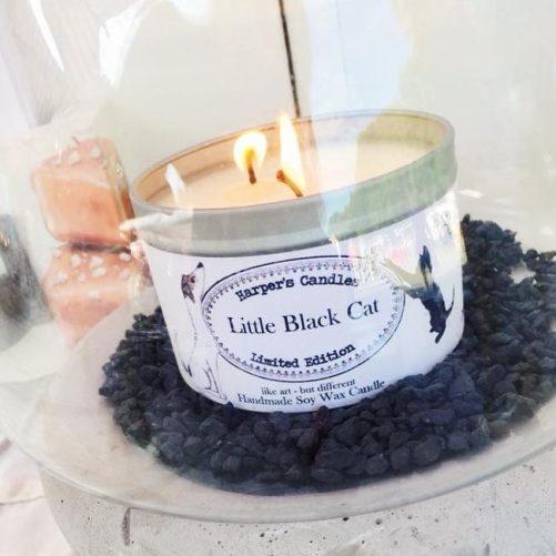 Harper Little Black Cat vegan geurkaars Harper's Candles