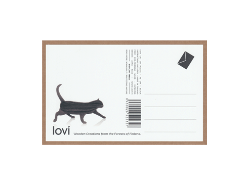 lovi wooden card cat front