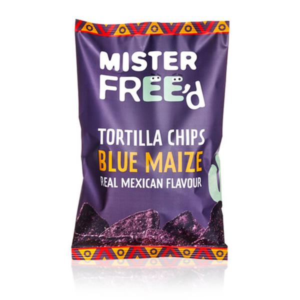 nachos Mister Free'd Tortilla chips Blue Maize
