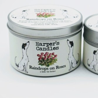 vegan geurkaars Raindrops on Roses Harper's Candles