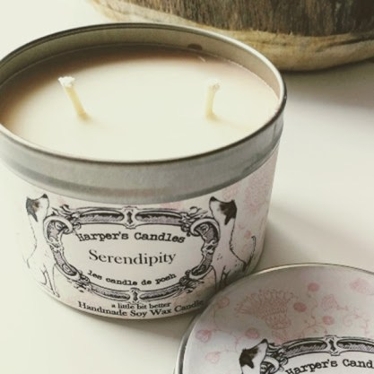 vegan geurkaars Serendipity Harper's candles