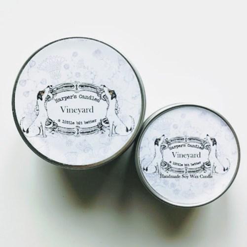 harper's candles vineyard
