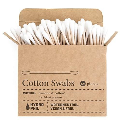 wattenstaafjes Hydrophil zero waste cotton swabs 100st