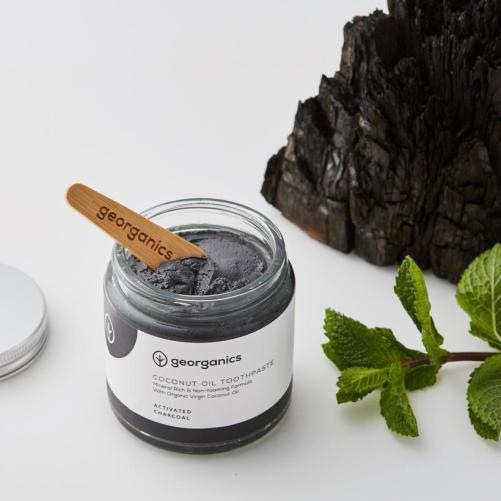 georganics toothpaste activated charcoal 120ml