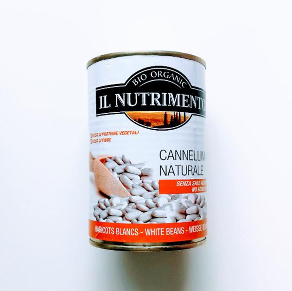 witte bonen zoutarm Il Nutrimento 400gr