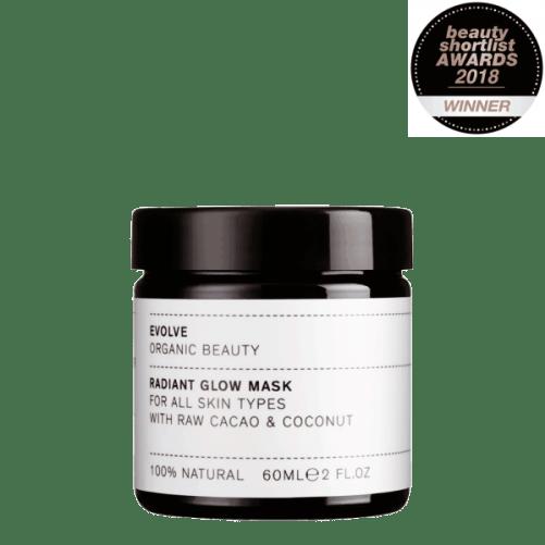 gezichtsmasker Evolve Radiant Glow Mask vegan maskertje bij tAK