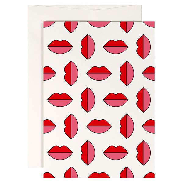 Lipstick Jungle Red Fries gevouwen wenskaart